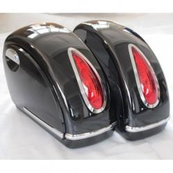 Univerzální zamykatelné pevné boční kufry s LED osvětlením