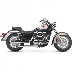 Chromovaný Cobra výfuk Drag Pipes Kawasaki