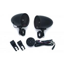 Černé reproduktory RoadThunder® s bluetooth ovladačem MTX®